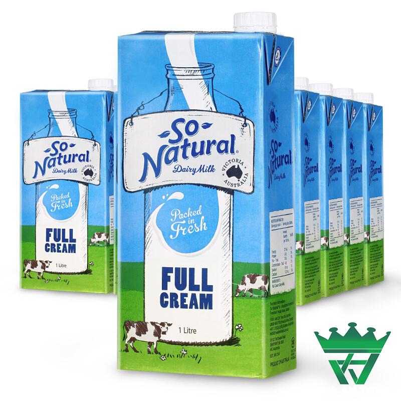 Sữa tươi nguyên chất tiệt trùng So Natural – hộp 1 lít