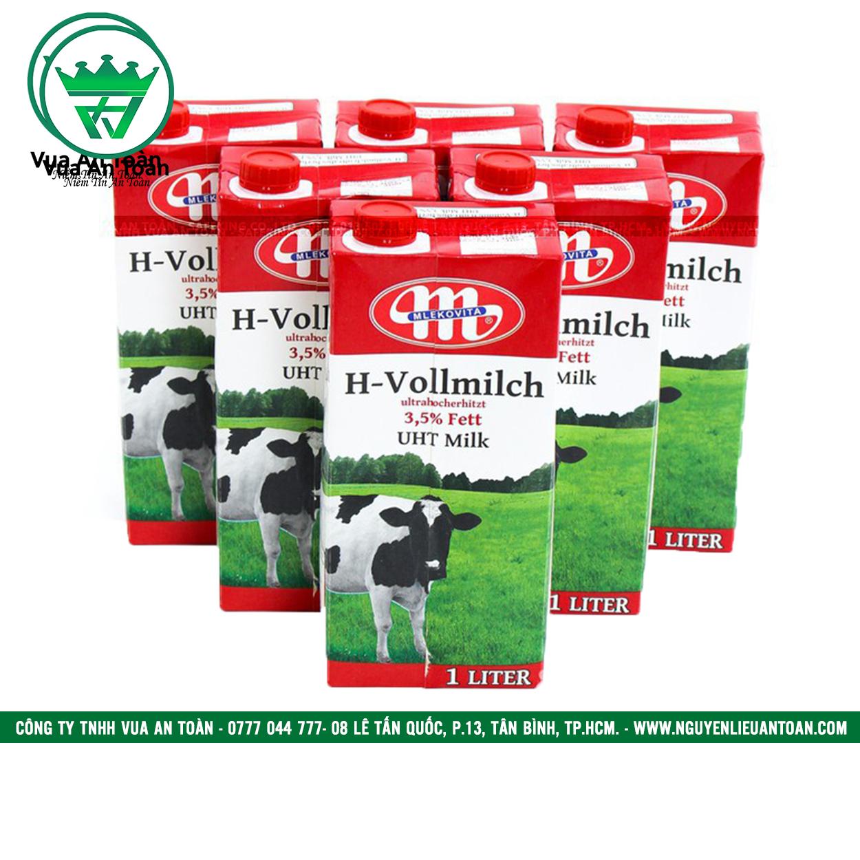 Sữa Tươi Ba lan Mlekovita H-vollmilch UHT Milk