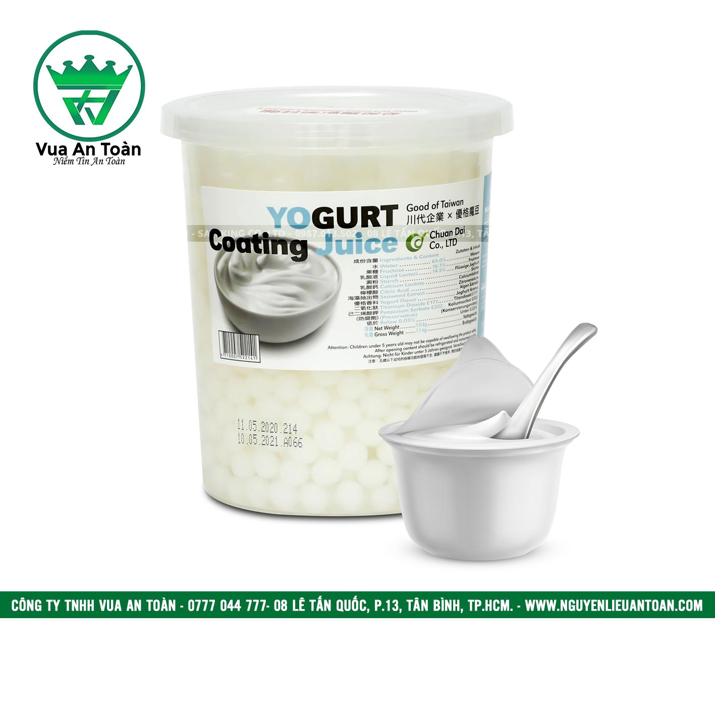 Hạt Thủy Tinh Yogurt Maulin 1kg