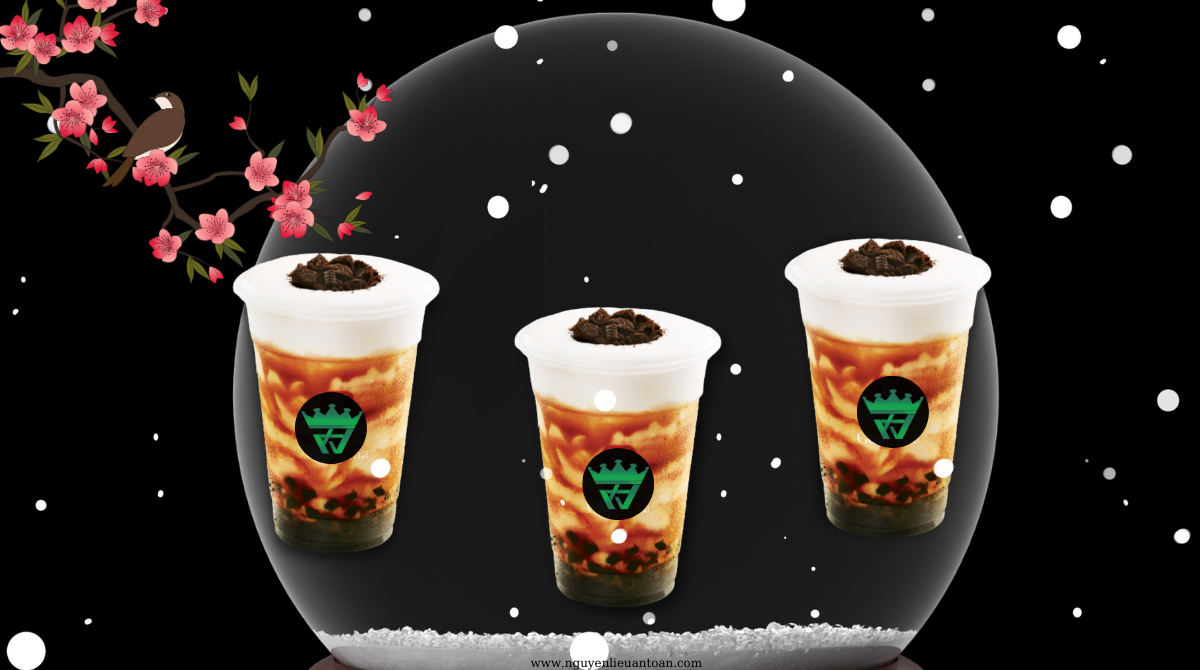 CÔNG THỨC LÀM OKINAWA OREO CREAM MILK TEA