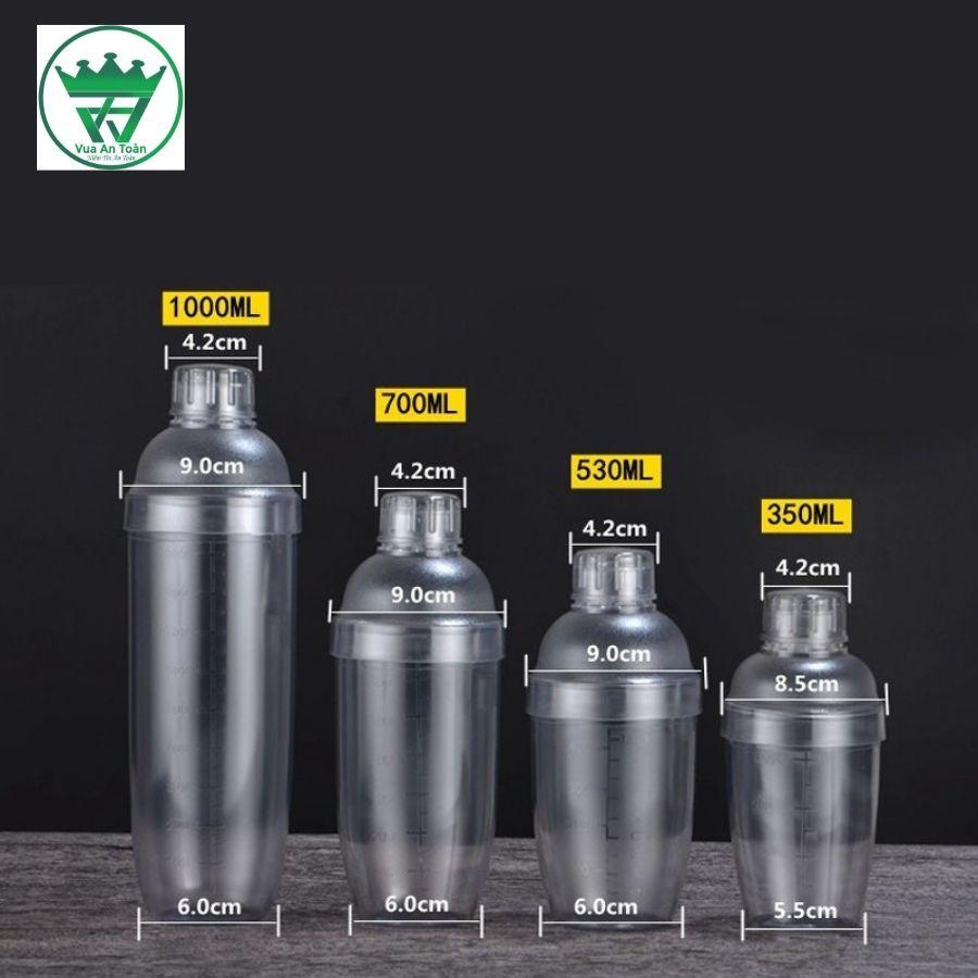 Bình lắc nhựa 530ml